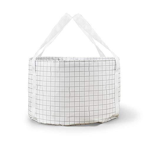 OHHCO Tazón plegable para lavar al aire libre, portátil, plegable, plegable, para camping, lavabo, cubo, fregadero de alta capacidad, cubo de agua, color negro (color: blanco)