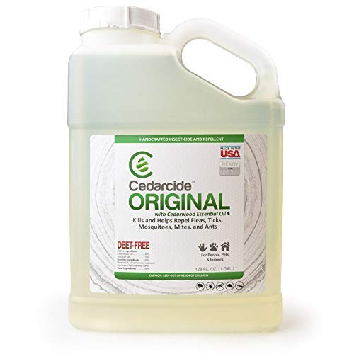 Cedarcide Original (Gallon) Natural Cedar Oil Insect Repellent Formerly Known as Best Yet Insect Spray Kills and Repels Mosquitoes Ticks Fleas Mites Ants and Chiggers