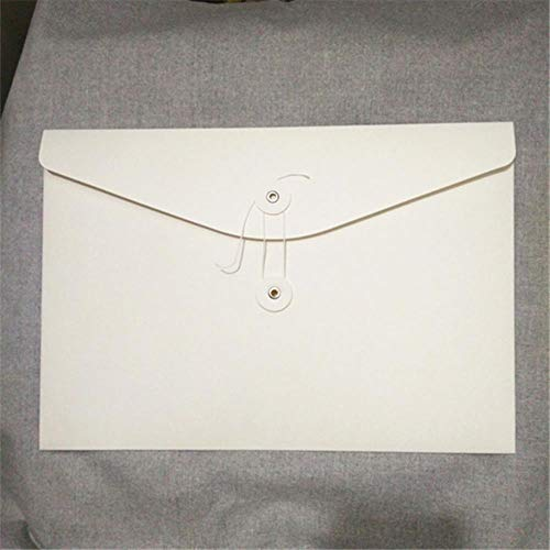 Heng 20st blanco A4 A5 envelop verticale kraft bestand envelop Horizontale papieren zak Organizer Document display mappen met zakken, A4 horizontaal wit