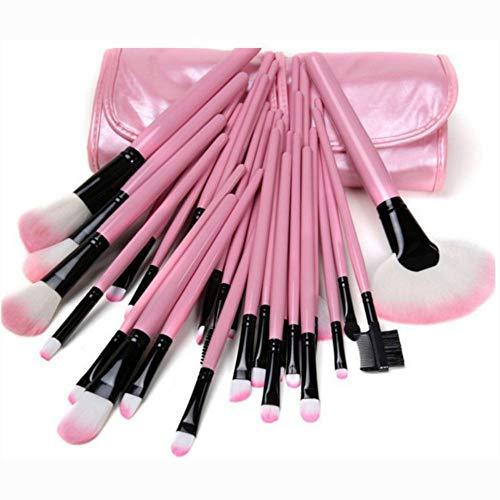 Maquillage Pinceau Maquillage Outils de beauté 32Pcs Rose Kit Pinceau Maquillage Fondation Portable