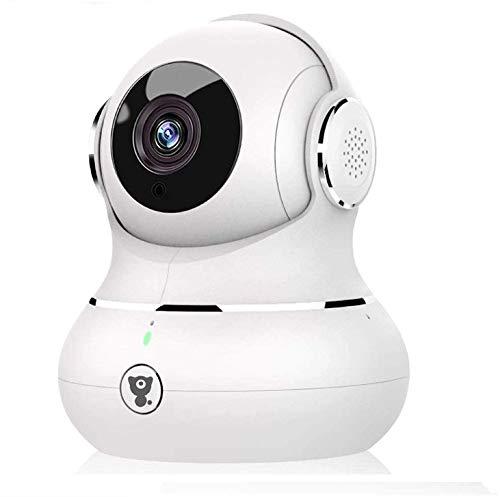 Littlelf Cámara IP 1080P FHD, Cámara de Vigilancia Inalámbrico & LAN con HD Zoom, Compatible con la aplicación Smart Life, Alexa y Google Home ( Blanco