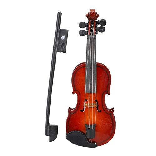 Adorno de violín, con caja de regalo delicada, modelo de violín, tilo, aspecto hermoso, para oficina para escritorio