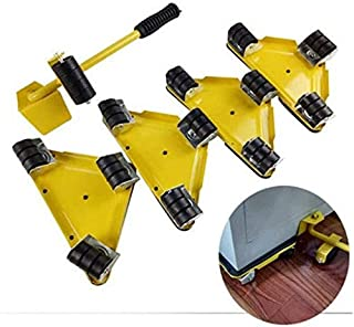 TXOZ 5PCS/Set Furniture Lifter Mover Tool Set with 1 Lifting Rod and 4 Slides, 360 Degree Rotatable, Move Up To 250KG