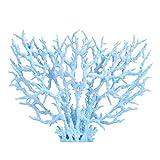 ERUYN 1 Pieza de Planta de Coral Artificial poliresina Calavera Adornos de Coral decoración de Acuario para pecera decoración de Paisaje Azul