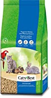 Plant-based litter. Convenient to use granules. Compostable Model number: Cat's Best Universal 40L