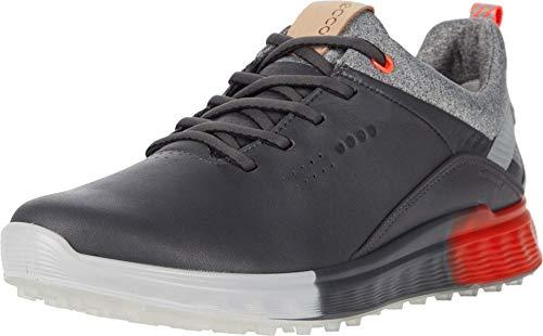 ECCO Women's S-Three Gore-TEX Golf Shoe, Magnet, 6-6.5