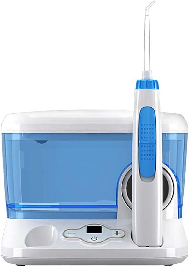 TJH Flosser de Agua, irrigador bucal Dental para Dientes/aparatos ortopédicos, 10 Niveles de presión Limpiador de Dientes para Recoger Agua 6 Puntas de Chorro reemplazables, Capacidad de 700 ml