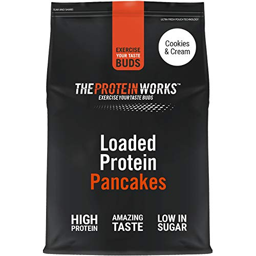 Loaded Protein Pancake Mix | High Protein Breakfast | Low Sugar Snack | Quick & Easy To Make | THE PROTEIN WORKS | Cookies 'n' Cream | 500 g