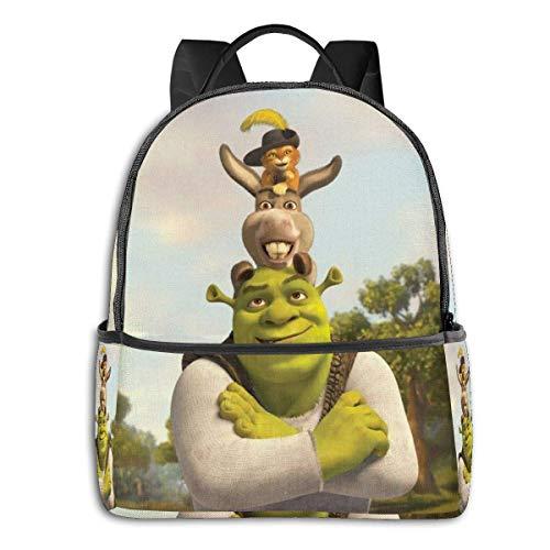 Anime Shrek Backpack Unisexs Student Bag Classic Lightweight Zipper Backpacks