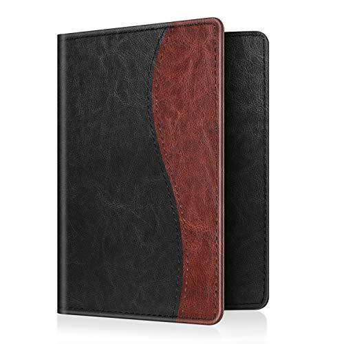 Fintie Porta Passaporto - PU cuoio Porta carta di credito ID Documenti Custodia, Dual Color