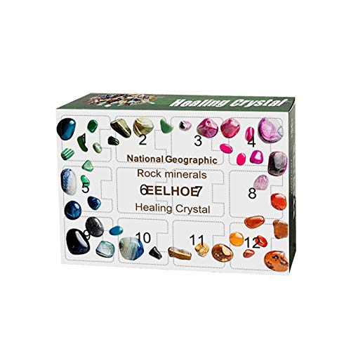 jieGorge Healing Crystal Advent Calendar2020 Art and Craft Advent Calendar 12 grids, Home DIY for Easter Day (Multicolor)