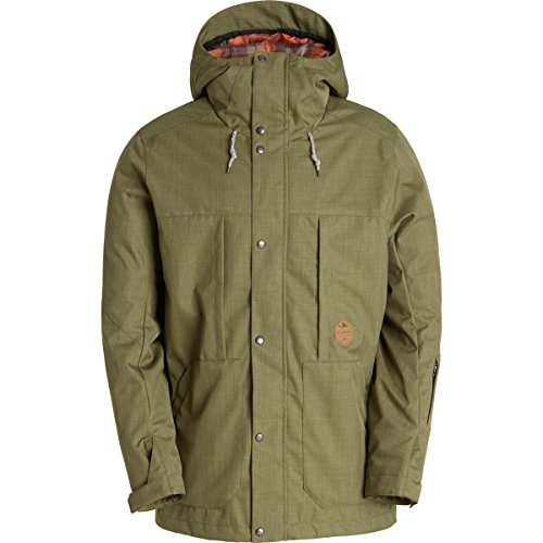 Billabong Men's North Poleshell Snow Jacket, Canteen, X-Large