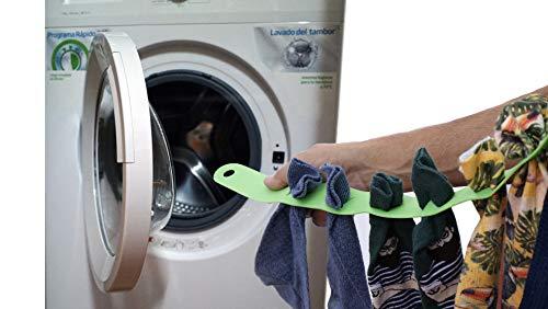 Cinta flexible para mantener el orden de los calcetines,u otras prendas pequeña, dentro de la lavadora y en el tendedero. 2018 (naranja)