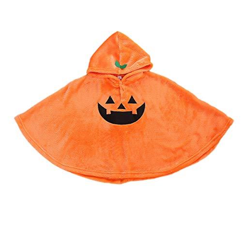 Minasan Disfraz de calabaza para Halloween, para beb, nia, nio, chaleco naranja, sombrero y zapatos para interiores, conjunto de ropa de 3 piezas Naranja12 3-4 aos