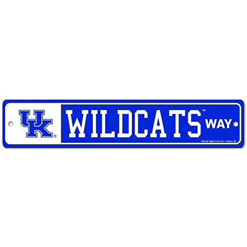 WinCraft NCAA University Kentucky Wildcats 4' x 19' Plastic Street Sign