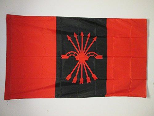 AZ FLAG Bandera de la FALANGE ESPAÑOLA DE Las JONS 150x90cm para Palo - Bandera del FALANGISMO 90 x 150 cm