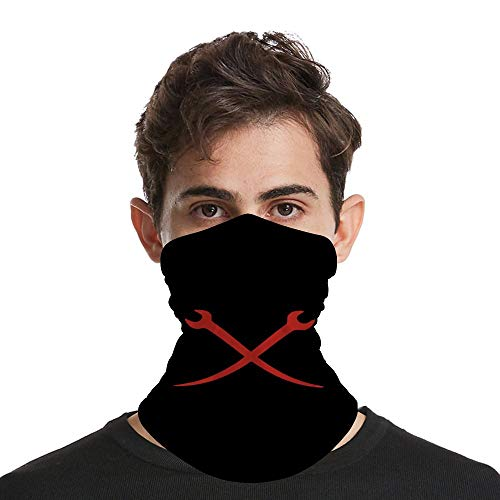 Ironworker Crossed Tools Sun UV Protection Face Scarf Cover Mask Neck Gaiter - Sunscreen Breathable Bandanas for Hot Summer Fishing Motorcycling Running