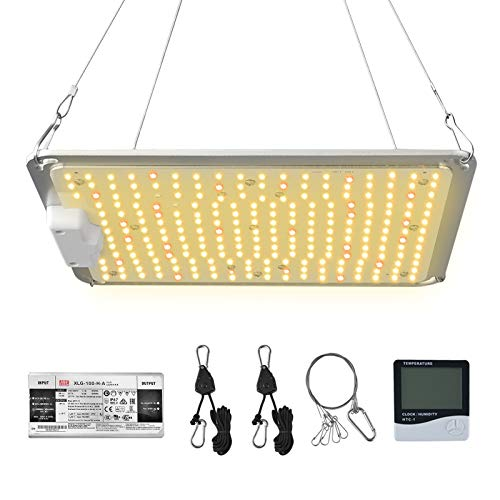 U-MAX Sunlike Full Spectrum Waterproof Plant Grow Light UMAX-1000 Compatible with Superior SMD Chips & Mean Well Driver, Indoor Greenhouse Grow lamp with 5 Years Warranty for Succulent Veg.