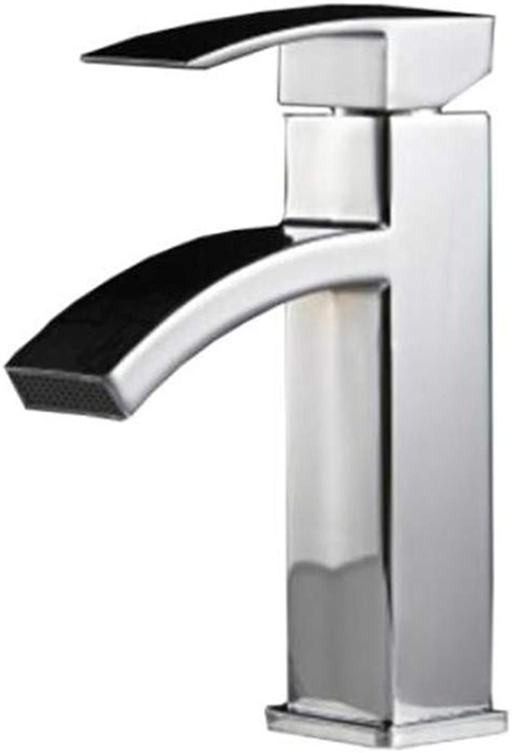 Faucet Waste Mono Spoutbathroom Faucet Cold and Hot Dual-Purpose Single-Hole Single-Sitting Faucet Waterfall Basin Faucet Low-Grade Basin