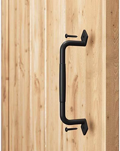 Sliding barn Door Handle, Door Pull, Black cast Iron Hardware, Comfortable and Convenient Touch Door Handle Handle kit, Used for Garden Door Wooden shed Door