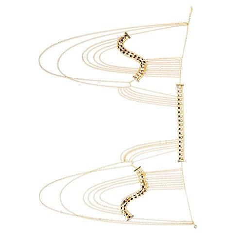 Gurtzeug Halskette Quaste Schulter Körperkette Bikini Schmuck