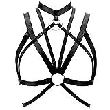 ZHER-LU - Sujetador de Jaula con arneses para Mujer con Tirantes Huecos, lencería gótica, Parte...