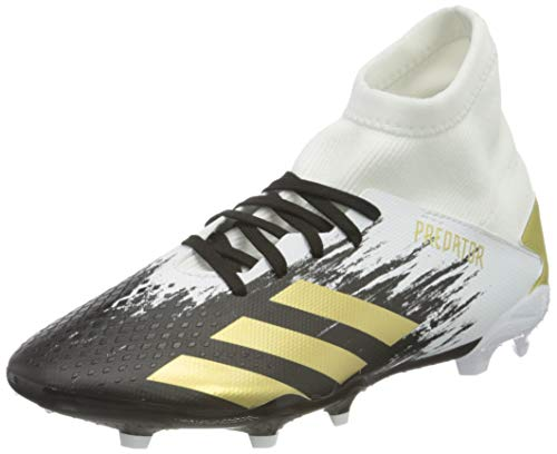 adidas Unisex Predator 20.3 Firm Ground Fußballschuh, FTWR White Gold Met Core Black, 35.5 EU