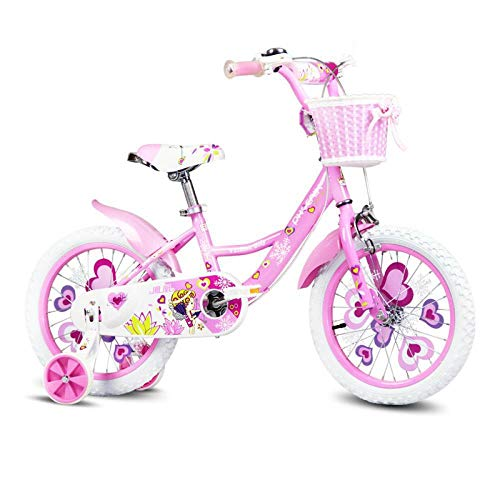 Best Buy! FJFJFJ Children's Bicycle 16/14/12/18 Inch Girl Baby Bicycle 2-8 Years Old Child Girl Baby...