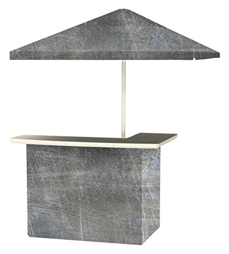 Best of Times 2001W2410 Garage Metal Portable Bar and 8 ft Tall Square Umbrella, One Size, Grey
