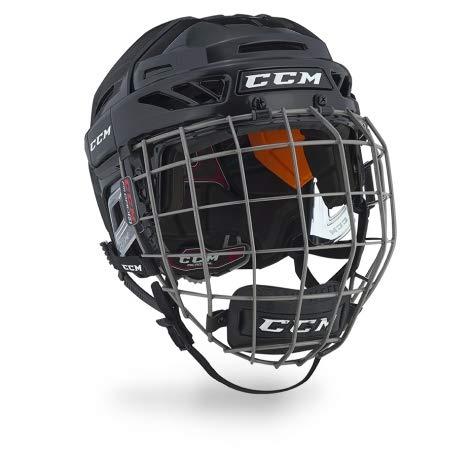 CCM 90 Pro Combo Helm, Größe S, Farbe: Schwarz