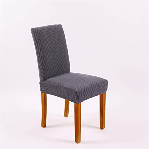 XBSXP Fundas para sillas de Comedor, Fundas de Tela elásticas para sillas de Comedor, Fundas elásticas para sillas Grandes para Comedor, Bodas, Banquetes, decoración de Fiestas, Gris Med