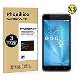 PHONILLICO [Pack de 3] Verre Trempe pour ASUS ZENFONE 3 Zoom S ZE553KL 5.5' - Film...
