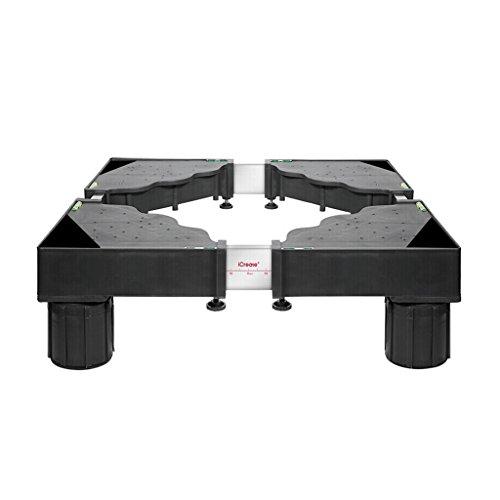 Dongyd Coussin de Support Mobile pour Lave-Vaisselle de Base pour réfrigérateur Haut, Support Universel, trépied Fixe, 4 Pieds, Noir