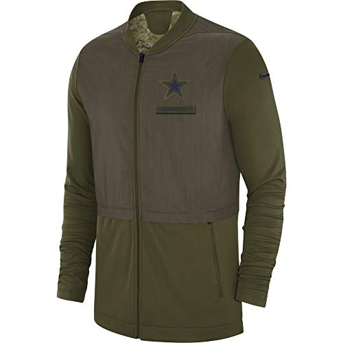 NFL Dallas Cowboys Mens STS Elite Hybrid Jacket, 3X-Large, Olive