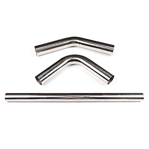 SCITOO 3' /76mm Straight Exhaust Stainless Steel Manifold 45 90 Degree Stainless Exhaust Manifold Pipe