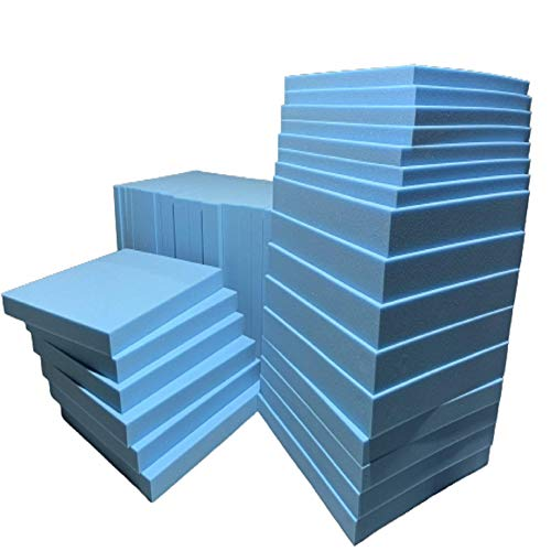Top Style Collection Upholstery Foam Foam Sheet, High Density Cushions, Seat Pads, Stool Chair Firm Seat, Padding, Replacement Foam Sofa Seat, Blue Foam, Cut to Any Size (26' x 25' x 1')