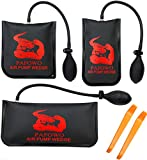 IMPROVED 3 Piece Commercial Grade Air Wedge Bag Pump Professional Leveling Kit & Alignment Tool Inflatable Shim Bag. 3 Sizes(Small, Medium, Large) for a Variety of Jobs. 300 LB Rating