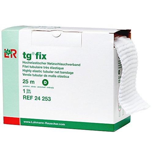 Lohmann & Rauscher TG Fix - Vendaje tubular de red elástica, para heridas y vendajes para pequeñas extremidades, tamaño D (41.3in de ancho x 82.0ft de largo cuando está estirado)