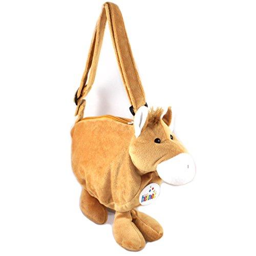 Ventilkappenkönig Kinder Plüsch Tasche Kindertasche Kuscheltier Handtasche Kinder Geschenk Pferd
