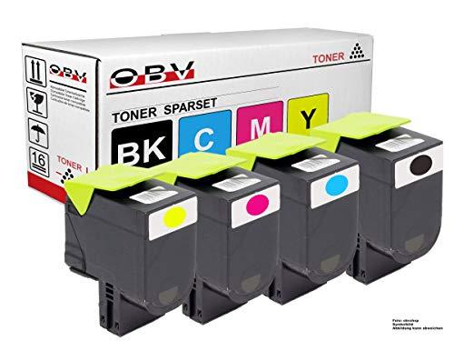 OBV 4X Premium Toner kompatibel mit Lexmark CS317 CS317dn CS417 CS417dn CS517de cx317 CX317dn cx 417 CX417de CX517de schwarz, Cyan, Magenta, gelb
