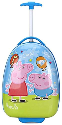 Kinderen Rolling Bagage wielen zak Kid Suitcase Boy Girl handbagage ABS bagagewagen kind, 24 inch, Red Leuk speelgoed voor kinderen. (Color : 21 Inches, Size : Balloon pig)