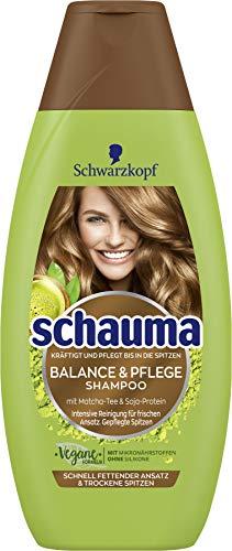 SCHWARZKOPF SCHAUMA Detox & Pflege Shampoo für einen schnell fettenden Ansatz & trockene Spitze, 5er Pack (5 x 400 ml)