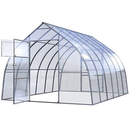 Invernadero Jardín Drop 3x6M 18M² Policarbonato Transparente 4mm, Marco Acero, Varios Modelos...