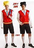 Disfraz de Gemelo Travieso 2 en 1 Hombre talla Universal M-L
