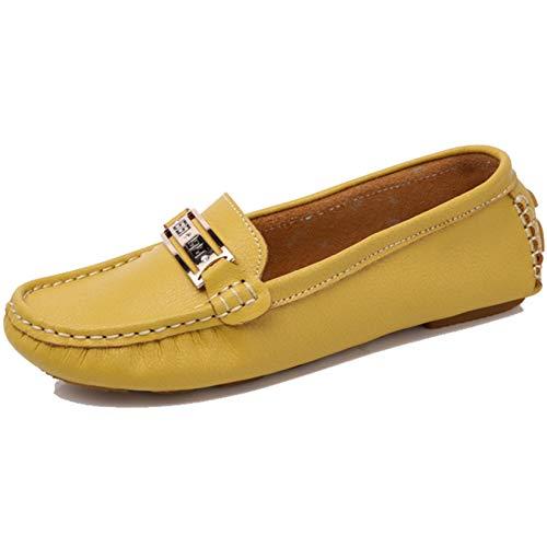 Mocasín para Mujer, Zapatos de Trabajo al Aire Libre de Primavera y Verano Vintage, Mocasines de Fondo Suave, Zapatos de Madre de Cuero Resistentes al Desgaste
