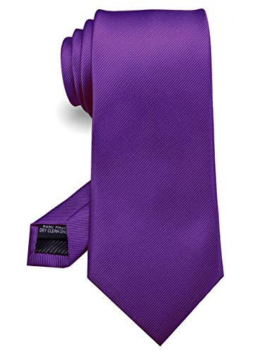 JEMYGINS Lila Handgenähte Krawatte for Herren - Arbeit,Party,Vatertag(8)