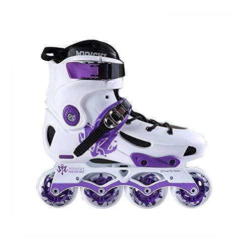 Taoke Inline-Skates, Schlittschuhe Schnelle Adult Professionelle Roller Skates Eisschnelllauf Schuhe Set (Farbe: Lila, Größe: EU 37 / US 5 / UK 4 / JP 23,5cm)...