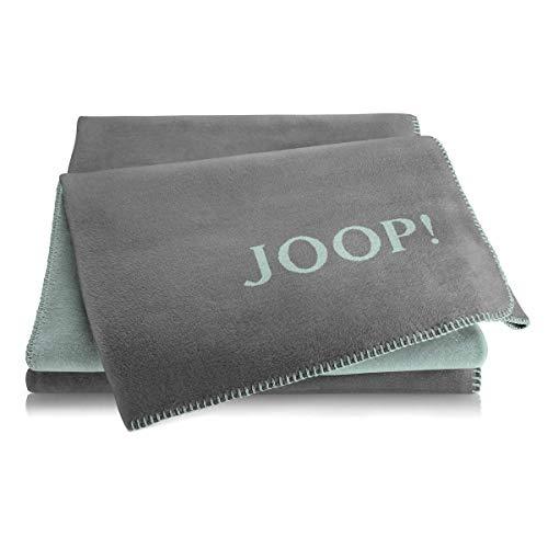 Joop! Plaid Uni-Doubleface   Schiefer-Aqua - 150 x 200 cm