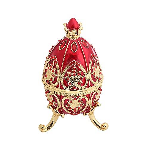 Galvanotecnica diamante incrostato artigianato metallo regali ornamenti uova di Pasqua decorazioni per la casa
