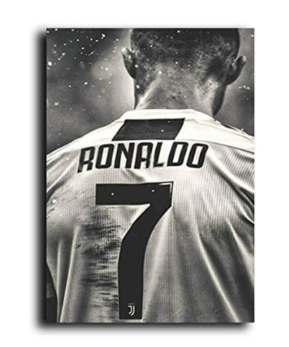 JCYMC Rompecabezas 1000 Piezas Fútbol Deporte Estrella Cristiano Ronaldo Póster Retro para Adultos Juegos Juguetes Educativos Jq22Mk